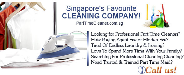 Looking for Professional Part Time Cleaners? Hate Paying Agent Fee or Hidden Fee? Tired Of Endless Laundry & Ironing? Love To Spend More Time With Your Family? Searching For Professional Cleaning Cleaning? Need Trusted & Trained Part Time Maid? PartTimeCleaner.com.sg - Singapore's Favourite Cleaning Company!